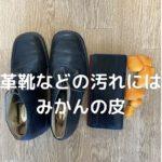 革靴の汚れにはみかんの皮(実験)